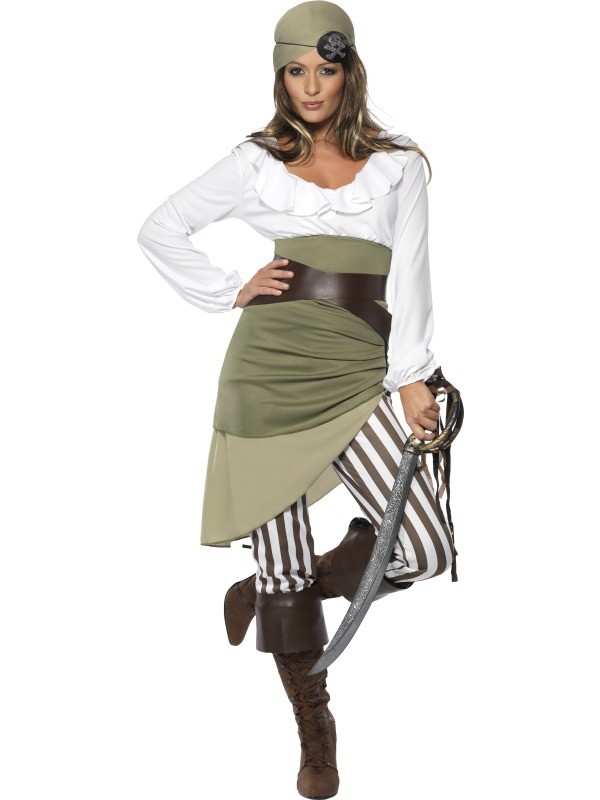 Piratenkostuem-fuer-Damen-Karibik-Kostuem-Pirat-Piratin-Seeraeuber-Gr-36-46